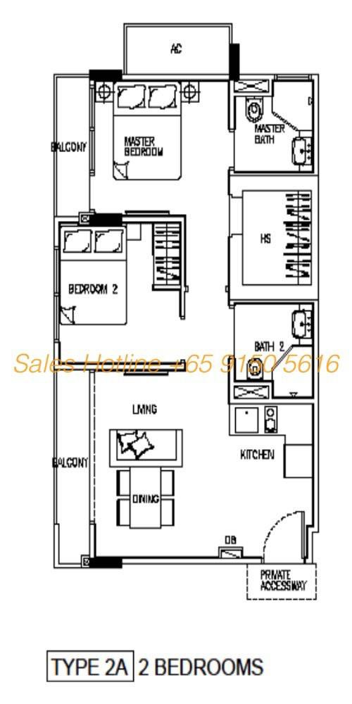 24 One Residences - 2 Bedroom