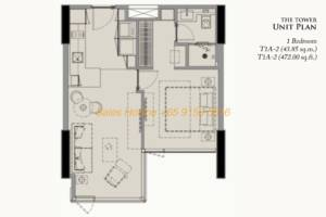 28 Chidlom Site Plan - 1 Bedroom (2)