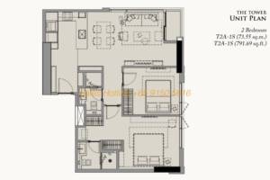 28 Chidlom Site Plan - 2 Bedroom (3)