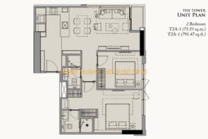 28 Chidlom Site Plan - 2 Bedroom