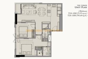 28 Chidlom Site Plan - 2 Bedroom (4)