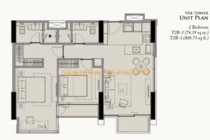 28 Chidlom Site Plan - 2 Bedroom (5)