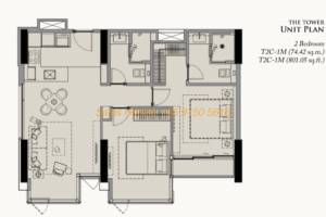 28 Chidlom Site Plan - 2 Bedroom (6)