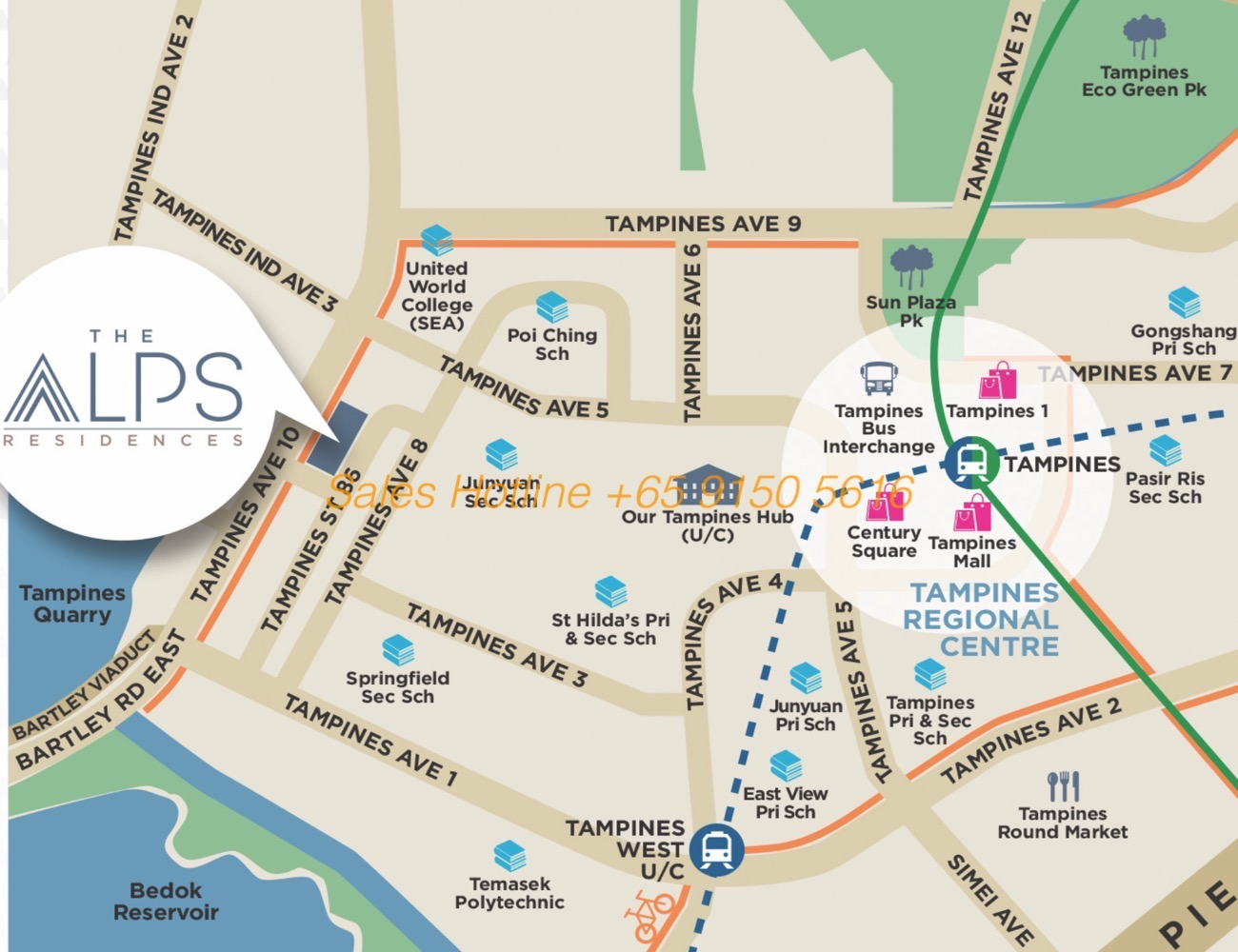 Alps Residences - Location Map