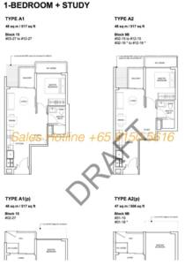 Forest Woods Floor Plan - 1 Bedroom + Study
