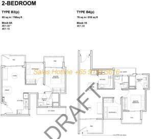Forest Woods Floor Plan - 2 Bedroom