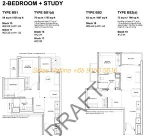 Forest Woods Floor Plan - 2 Bedroom + Study