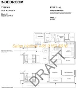 Forest Woods Floor Plan - 3 Bedroom
