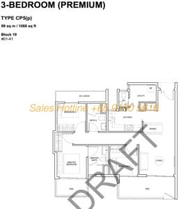 Forest Woods Floor Plan - 3 Bedroom Premium