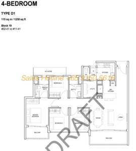 Forest Woods Floor Plan - 4 Bedroom