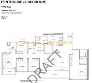 Forest Woods Floor Plan - 5 Bedroom Penthouse