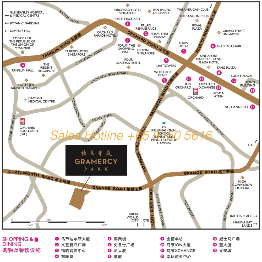 Gramercy Park Singapore - Location Map
