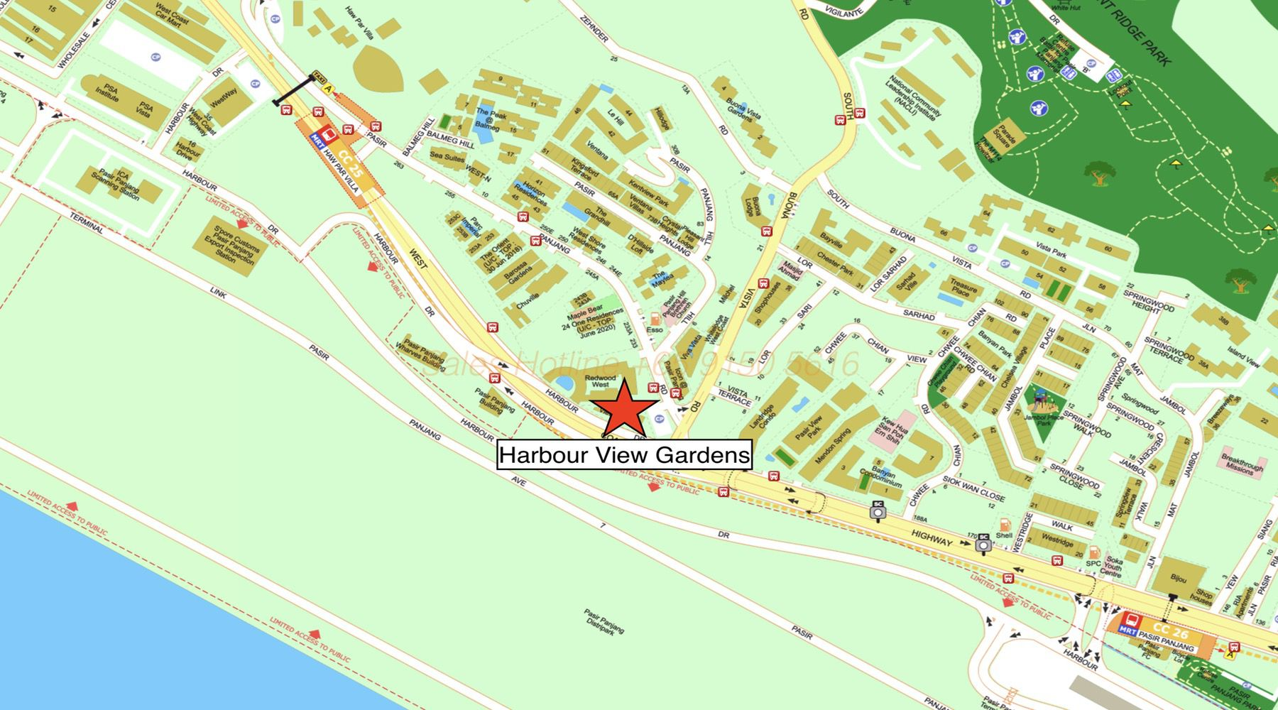 Harbour View Gardens - Location Map
