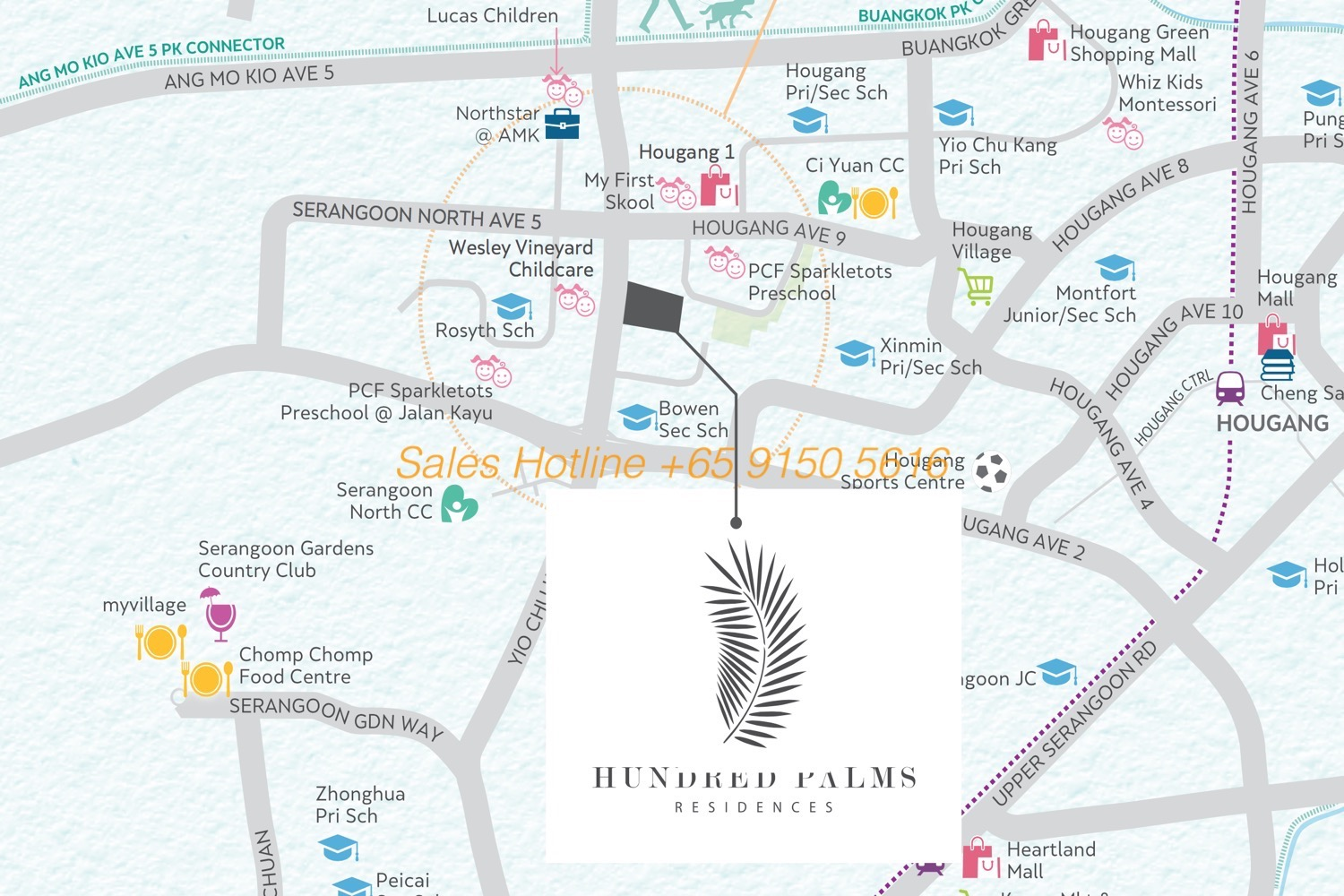 Hundred Palms Residences - Map