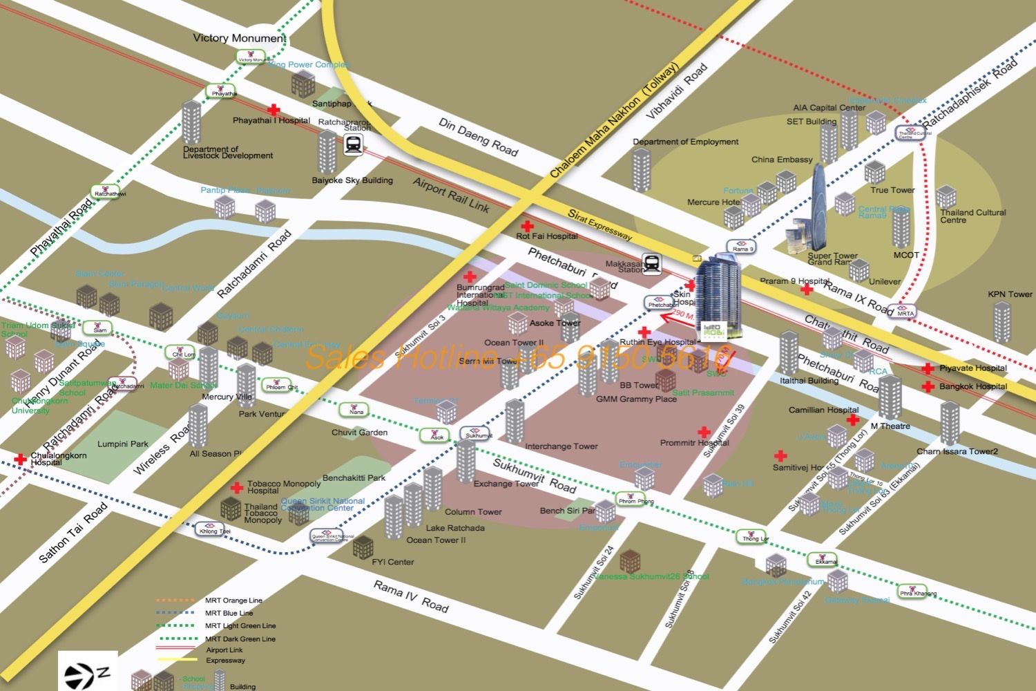 Ideo Mobi Asoke - Location Map