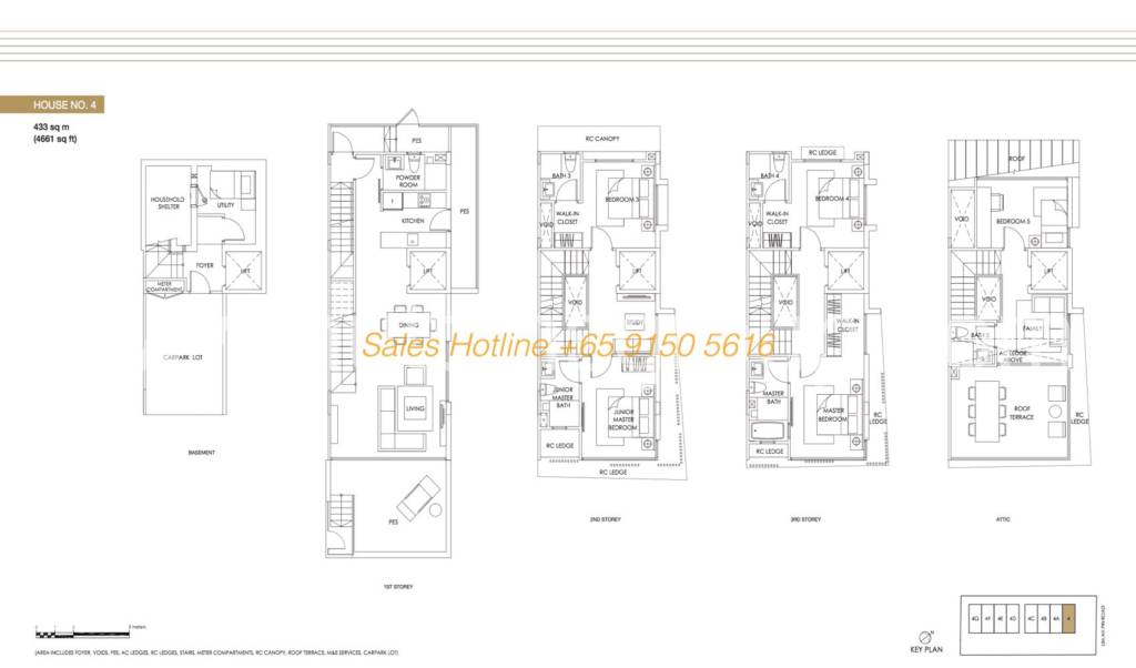 Jazz Residences Floor Plan - House No. 4