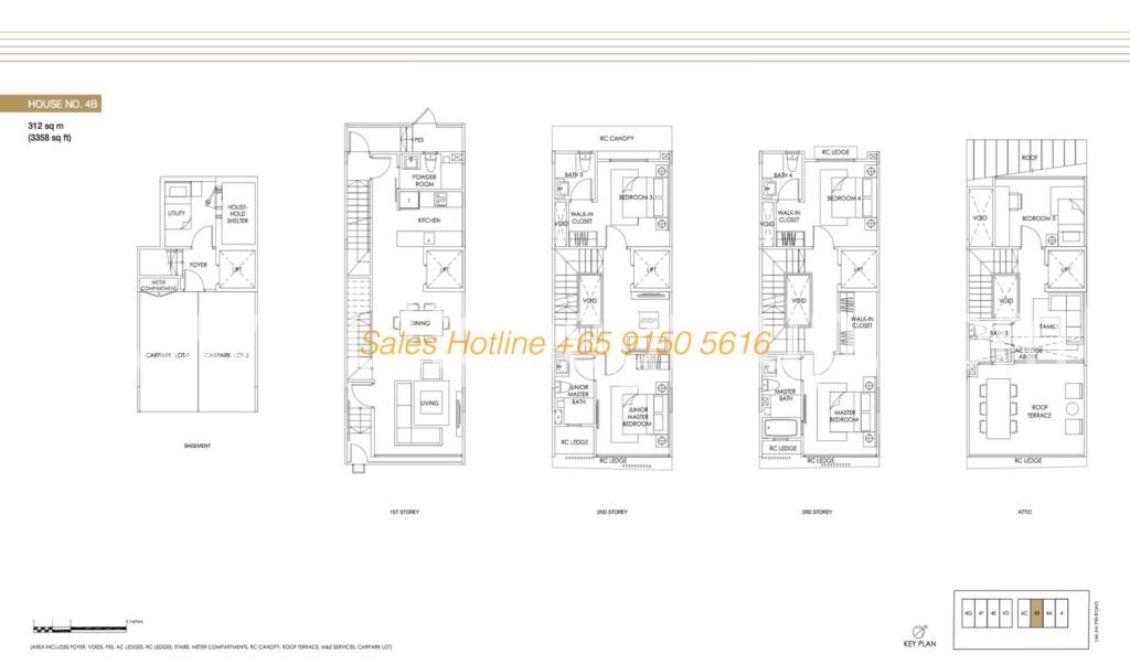 Jazz Residences Floor Plan - House No. 4B
