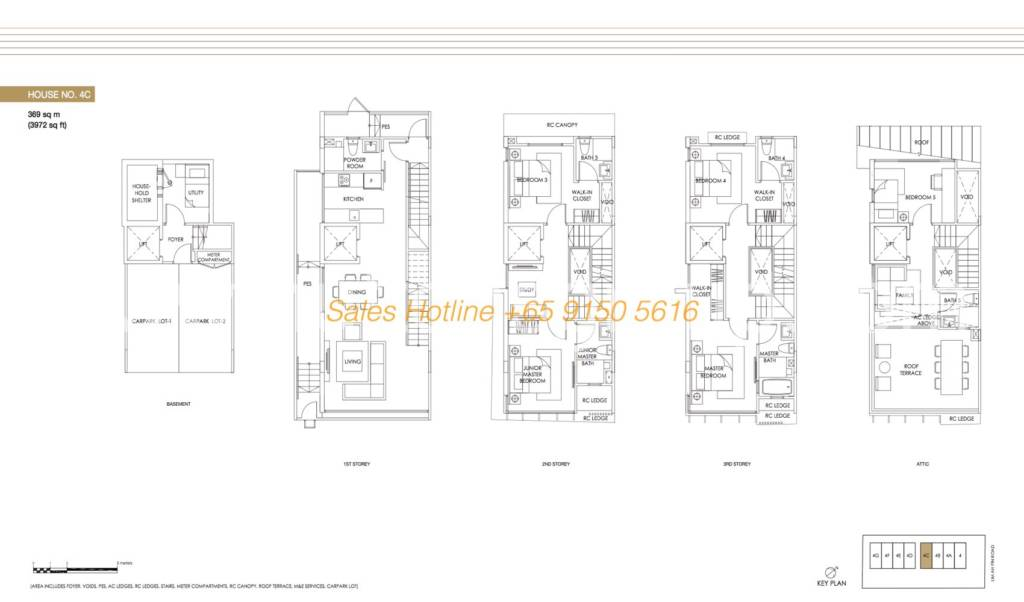 Jazz Residences Floor Plan - House No. 4C