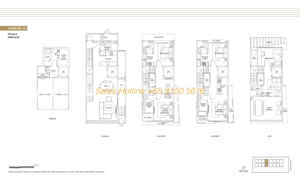 Jazz Residences Floor Plan - House No. 4D