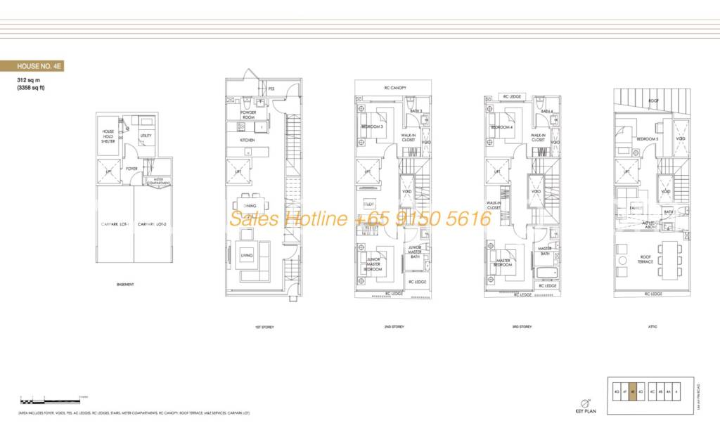 Jazz Residences Floor Plan - House No. 4E