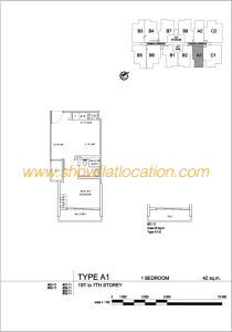 Liv On Wilkie Floor Plan - 1 Bedroom Type A1