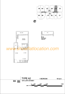 Liv On Wilkie Floor Plan - 1 Bedroom Type A2