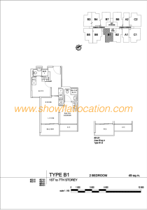 Liv On Wilkie Floor Plan - 2 Bedroom Type B1