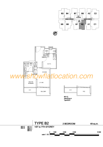 Liv On Wilkie Floor Plan - 2 Bedroom Type B2