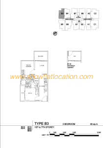 Liv On Wilkie Floor Plan - 2 Bedroom Type B3