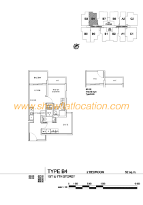 Liv On Wilkie Floor Plan - 2 Bedroom Type B4