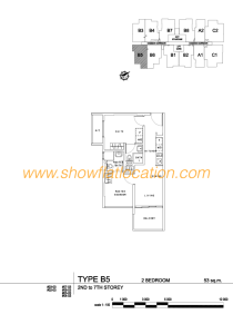 Liv On Wilkie Floor Plan - 2 Bedroom Type B5