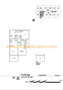 Liv On Wilkie Floor Plan - 2 Bedroom Type B6