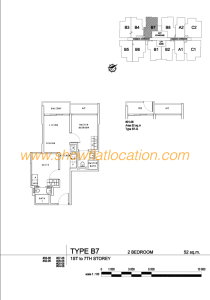 Liv On Wilkie Floor Plan - 2 Bedroom Type B7