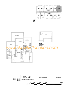 Liv On Wilkie Floor Plan - 3 Bedroom Type C2
