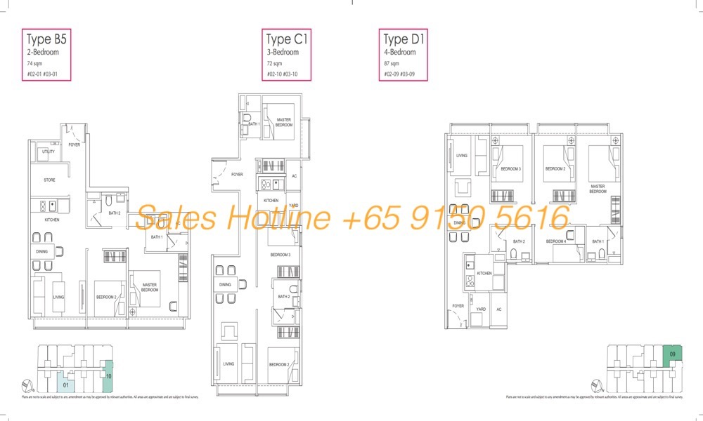 LongHaus Floor Plan - 2-4 Bedroom Type B5:C1:D1
