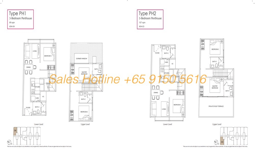 LongHaus Floor Plan - 3 Bedroom Penthouse PH1-2
