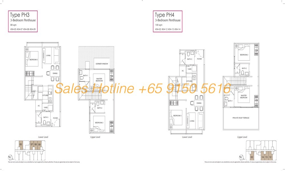 LongHaus Floor Plan - 3 Bedroom Penthouse PH3-4