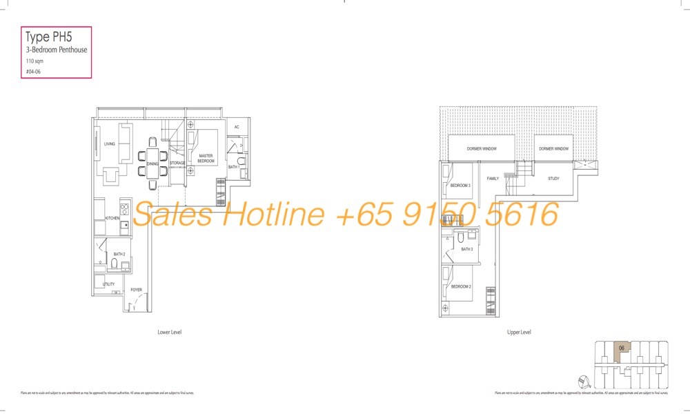 LongHaus Floor Plan - 3 Bedroom Penthouse PH5