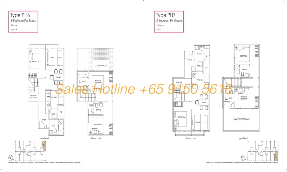 LongHaus Floor Plan - 3 Bedroom Penthouse PH6-7