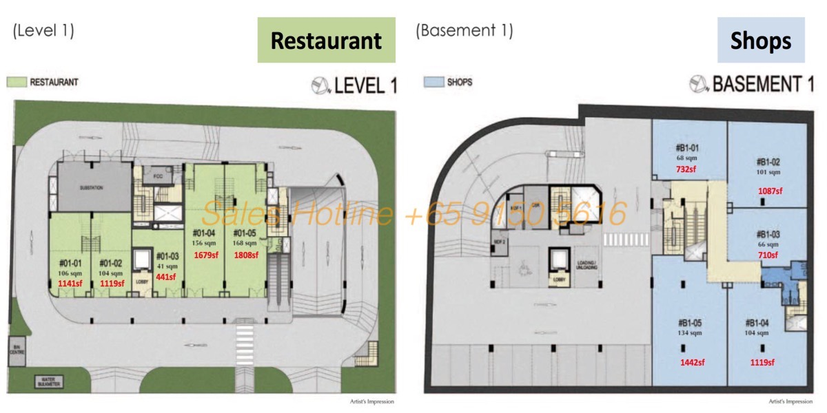 LongHaus Site Plan - Restuarants