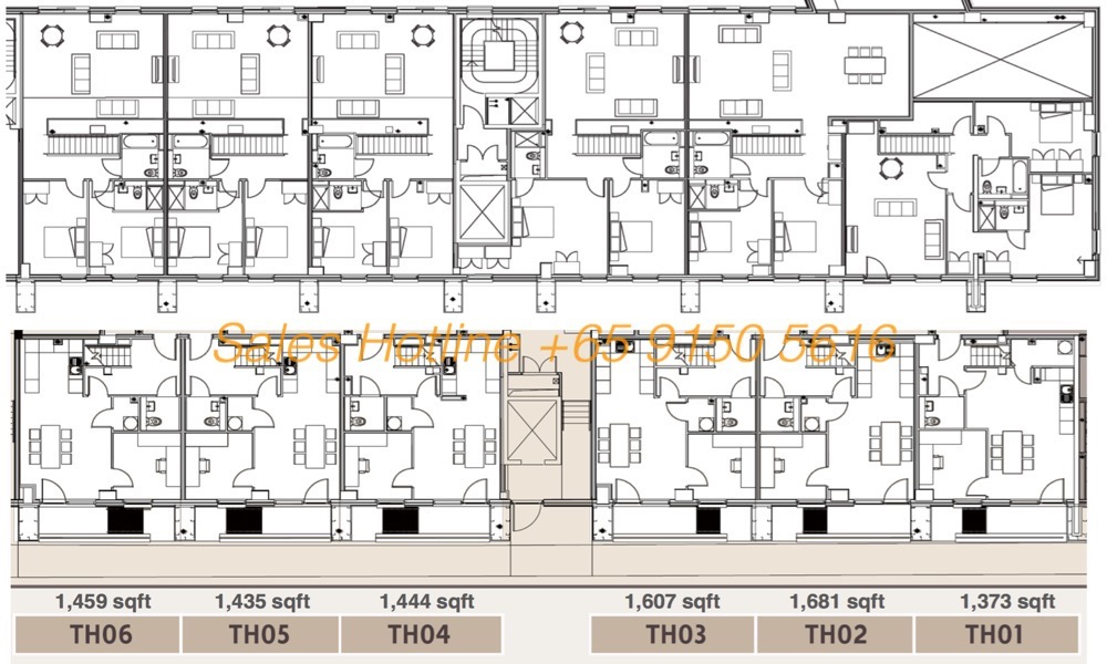 One Regent Floor Plan Townhouses
