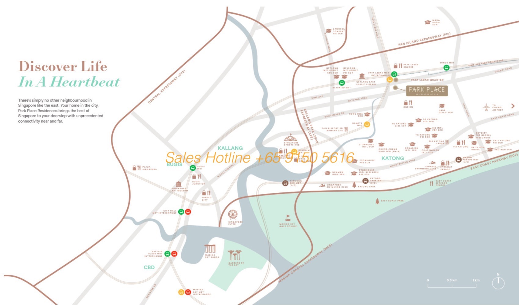 Park Place Residences - Location Map