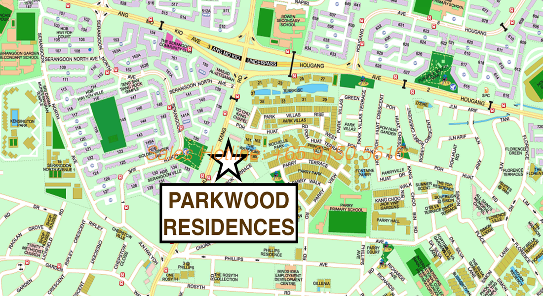 Parkwood Residences - Location Map
