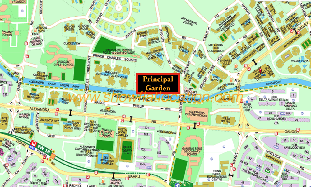 Principal Garden Location Map