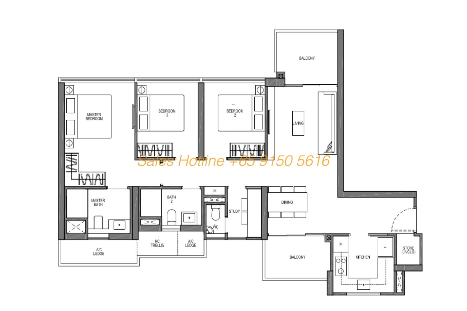 Seaside Residences Floor Plan - Vantage