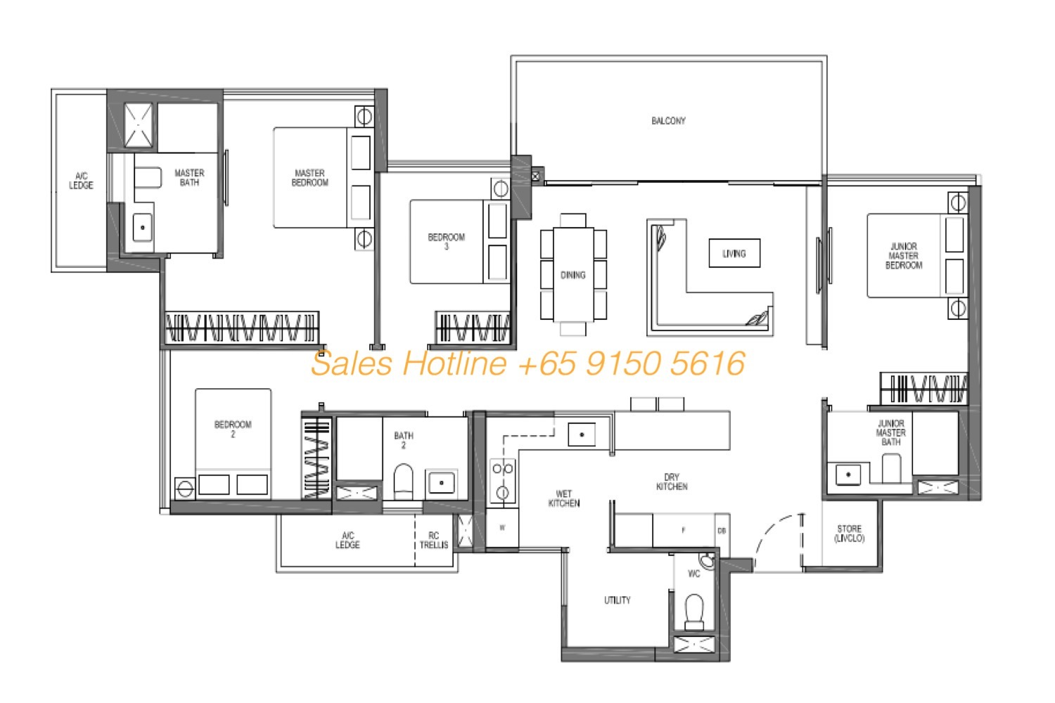 Seaside Residences Floor Plan - Vista