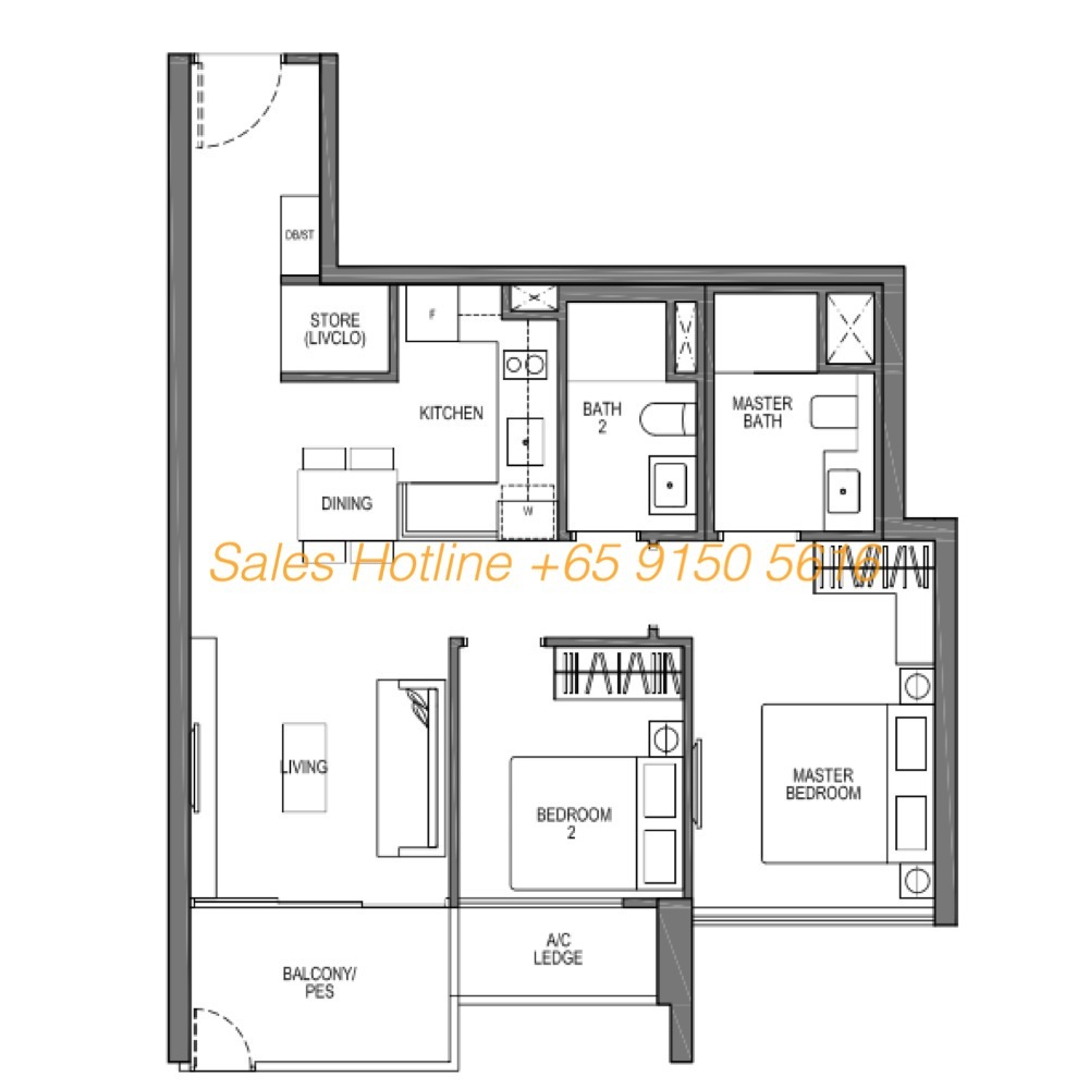Seaside Residences Floor Plan - Viva