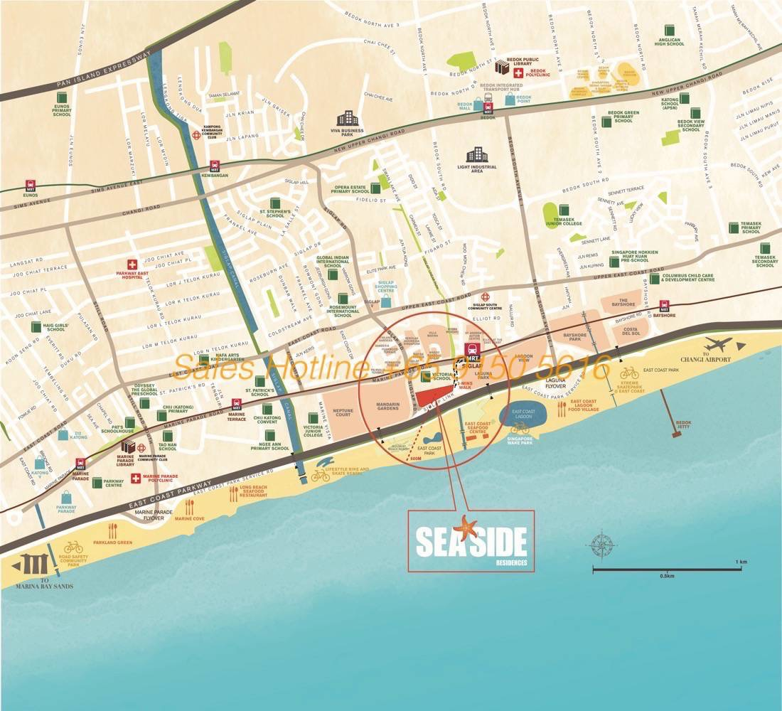 Seaside Residences - Location Map