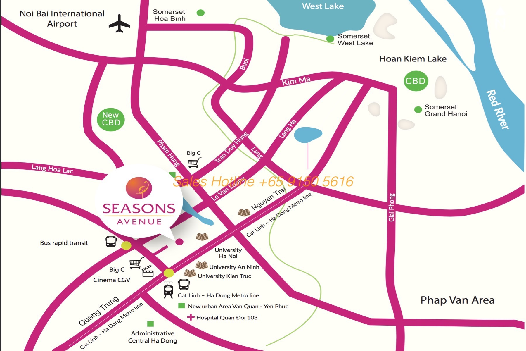 Seasons Avenue Hanoi CapitaLand Location Map