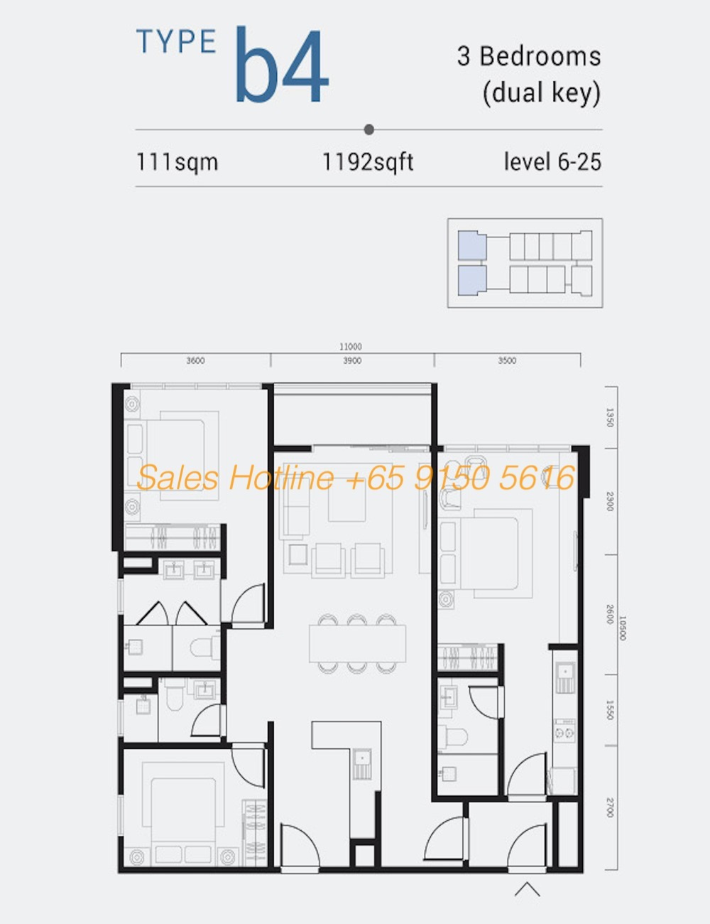 Shama Medini - 3 Bedroom Type B4